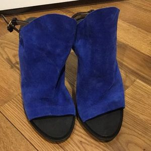 Royal Blue Balenciaga Glove Sandals